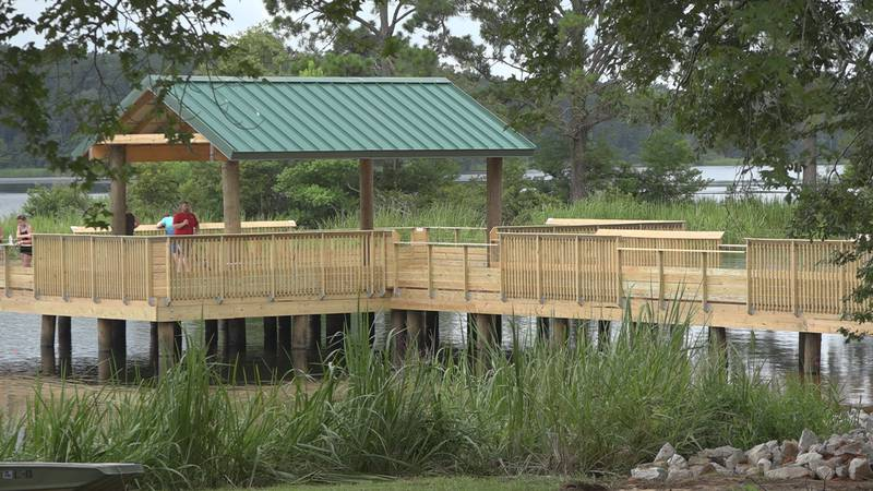 The Indian Creek Recreation Area's newly constructed pier.