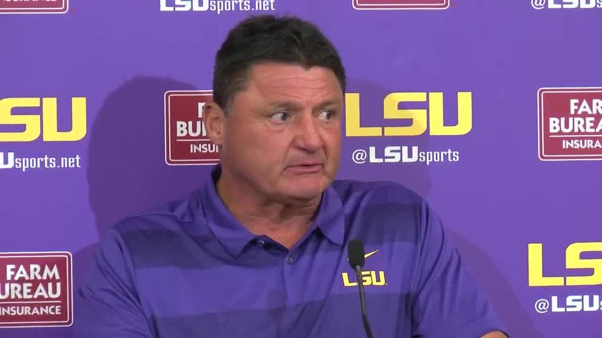 WAFB file photo of LSU head coach Ed Orgeron during a postgame press conference.