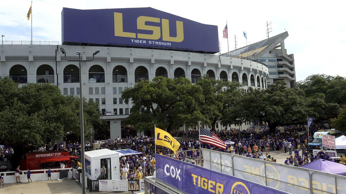 LSU's Tiger Stadium before an NCAA football game between LSU and Northwestern State Saturday in Baton Rouge, La., Sept. 14, 2019. (AP Photo/Patrick Dennis)