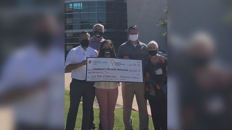 The Louisiana Restaurant Association's Cenla Chapter donates $10,000 to the Children's Miracle...
