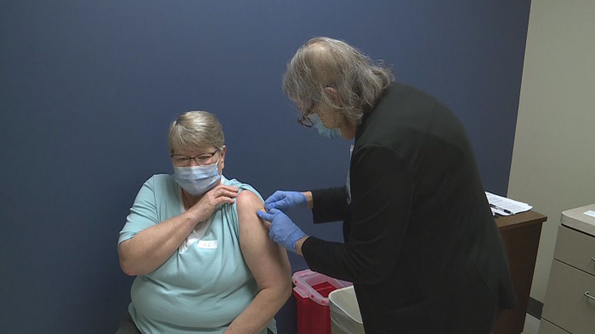 File Photo: Woman gets vaccine