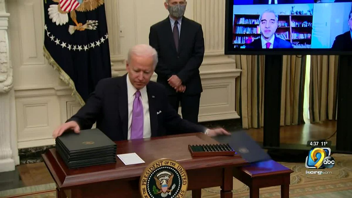 During his first day in office, the President signed 10 executive orders including a mask...