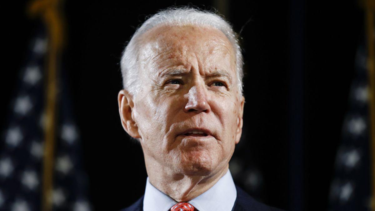 Former Vice President Joe Biden speaks about the coronavirus on Thursday, March 12, 2020, in Wilmington, Del. (AP Photo/Matt Rourke)