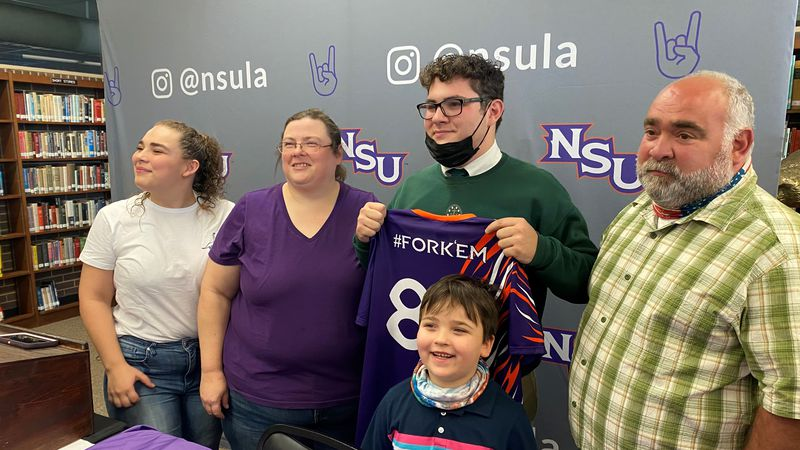 Cody Ruiz, a senior at Menard High School, became the first student to commit to Northwestern...