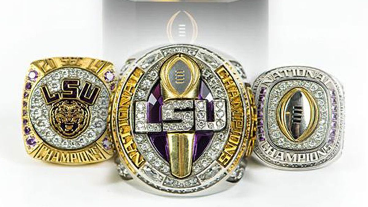 The LSU football team has received three championship rings after its 15-0 perfect season.