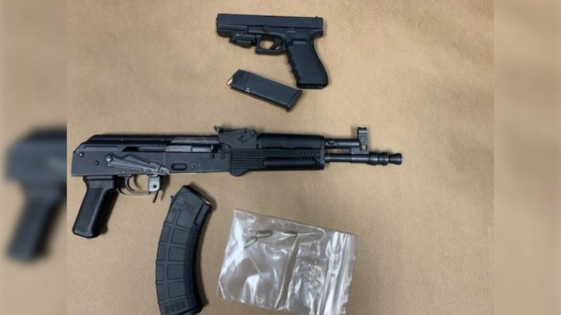 Monroe PD seized these weapons during a Jan. 26, 2021, arrest.