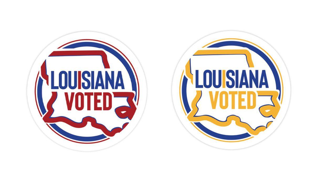 'I Voted' sticker for Louisiana 2020