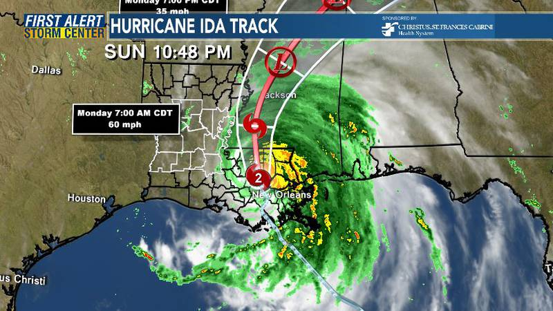 Hurricane Ida Track